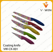 Coating Colourful Kitchen 6pieces Knife sets