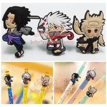 4pcs/lot Uzumaki Naruto Pencil Cap / Case Pencil Topper Writing Supplies office Stationery Gifts Pencil Accessories Kids Gifts