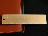 Small copper ruler pure brass products mini EDC tool scale portable retro bookmark ruler