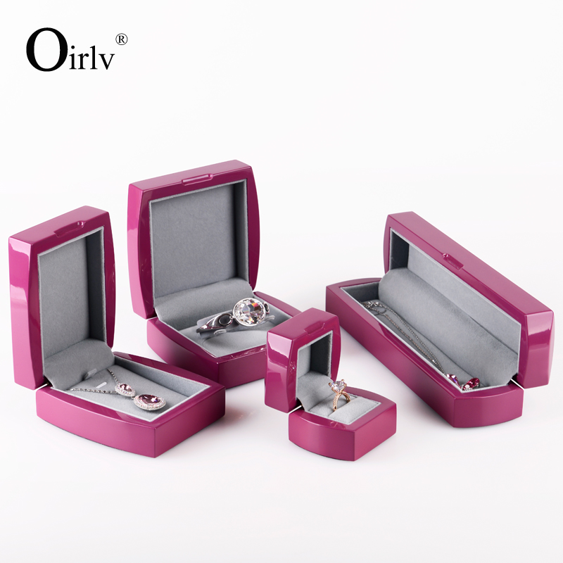 Oirlv Handmade Wholesale Custom jewelry ring bracelet pendant storage boxes for shop window cabinet decoration wooden gift box