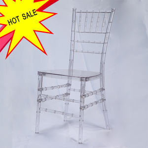 Hotel Wedding Banquet Wooden Metal Acrylic Plastic Clear Chiavari Chair