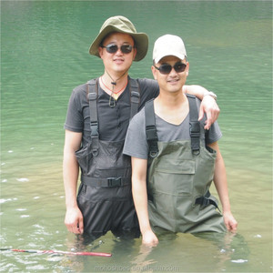 high quality wholesale china nylon pvc chest fishing waders