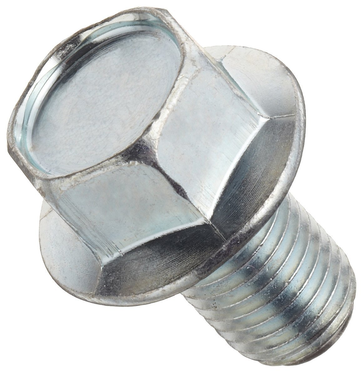 Class 10.9 Steel Cap Screw, Zinc Plated Finish, Flange Hex Head, External Hex Drive, Meets JIS B1190, Flanged, Non-Serrated, 12mm Length, Partially Threaded, M8-1.25 Metric Coarse Threads, Imported (Pack of 50)