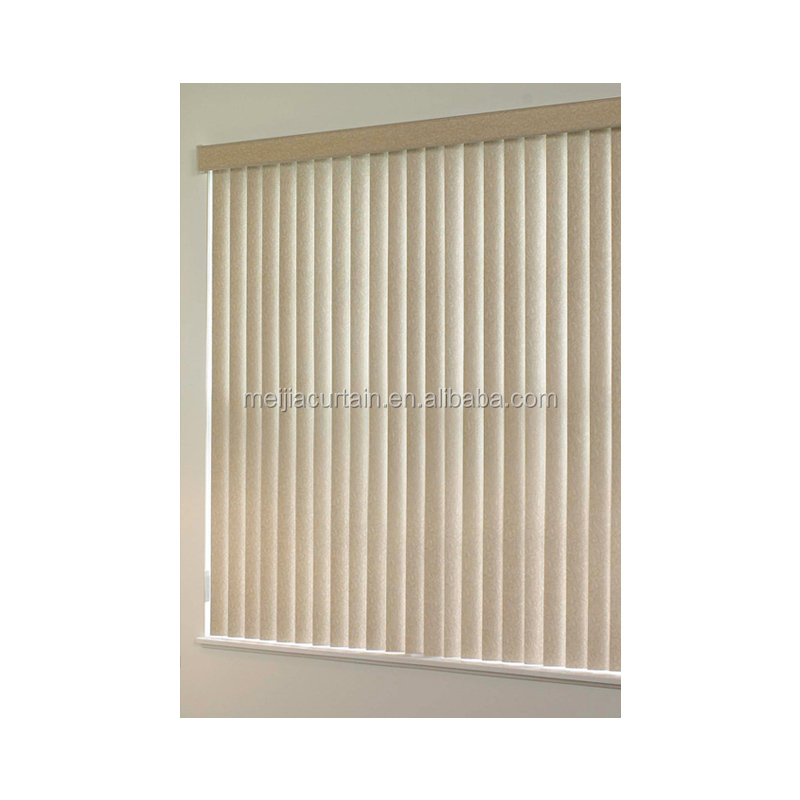 Meijia Manufacturer 127mm Fabric With PVC Slats Vertical Blinds