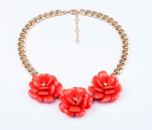 Happiness Women Wholesale Faceted Acrylic Flower Choker Chunky Jewelry