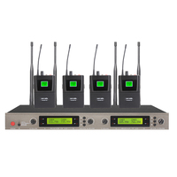 bodypack type UHF wireless microphone with Headset and lavalier