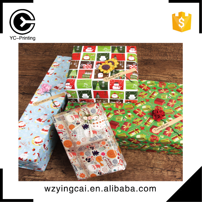 China suppliers target christmas art gold wrapping paper manufacture