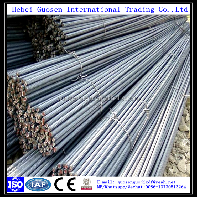 Construction Reinforced Rebar Price Per Ton, deformed steel bar, China iron rod