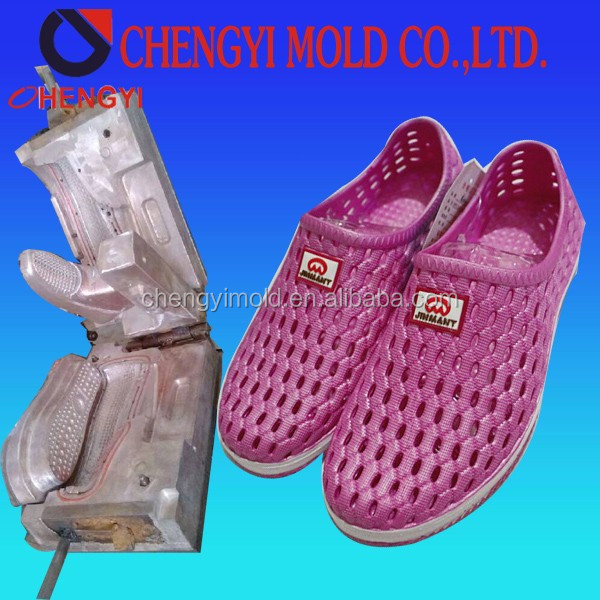 2015 New Style Lady Beautiful Air Blowing PVC Shoe Mould