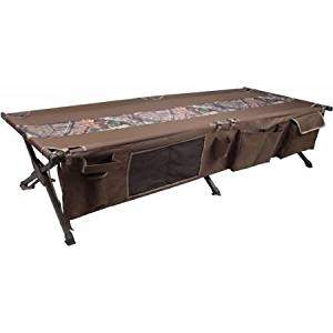 Ozark Trail Deluxe Durable Steel-Framed Easy Assembly Folding Camping Cot, Mossy Oak 3D Country Camo Breakup, 300 lbs Weight Capacity