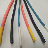 Polyester drawstring cords with silicone ends drawcord for hoodies