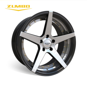 "Zumbo-Z93 Black face machined black matt hre best price 18"" 20"" alloy wheel Car rims china"
