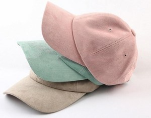 Custom 6panel Plain Dad Suede Baseball Cap, fashion hot selling colorful Suede 6panel baseball cap .