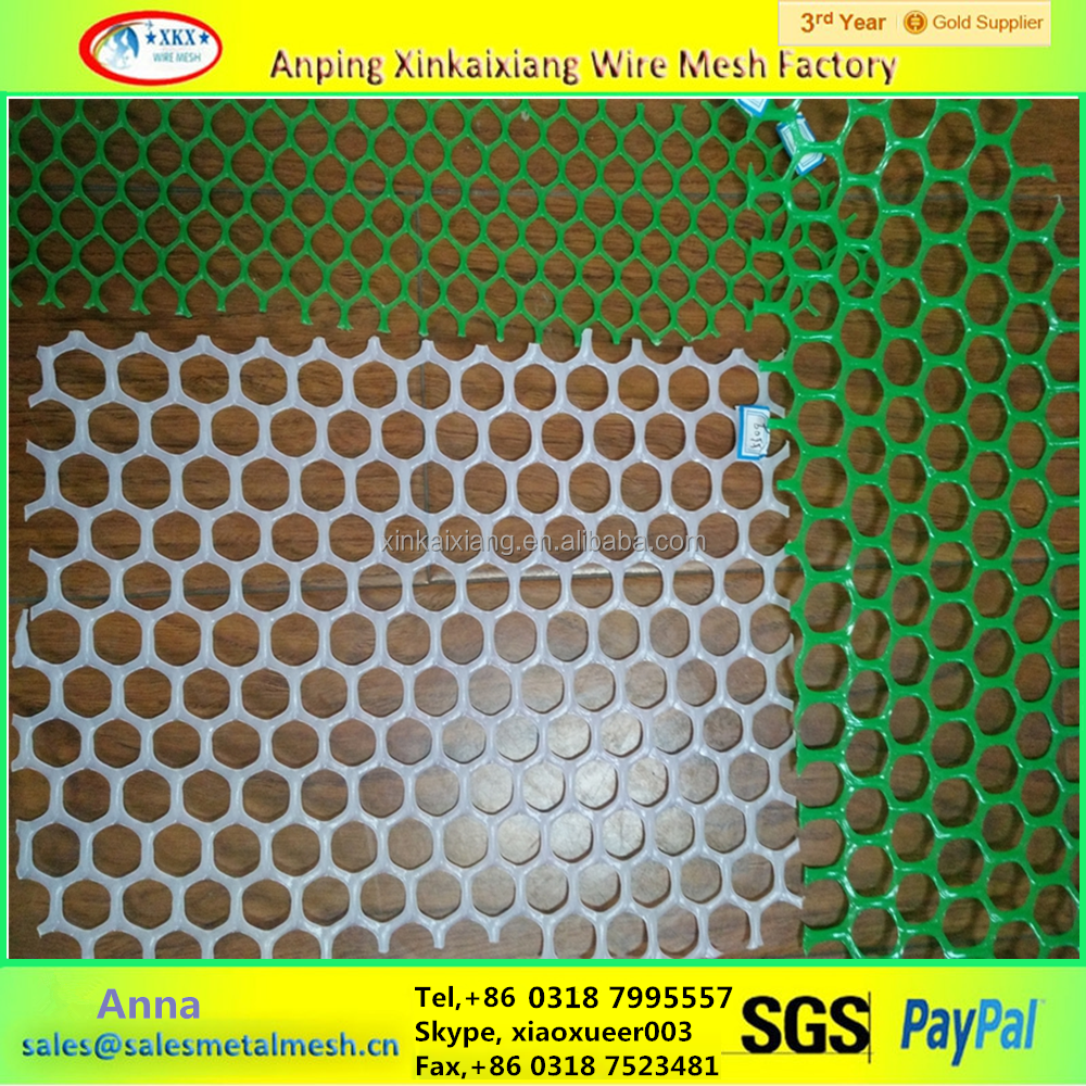 Corrosion Resistance PE / PP Plastic Hexagonal Wire Mesh for sale