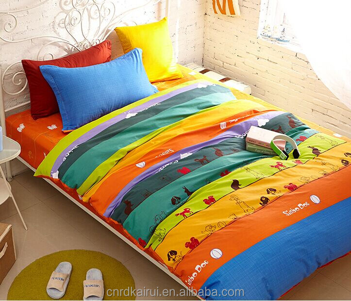 Fashion new reactive printing 100% polyester bed sheet,animal/plant image bed sheets