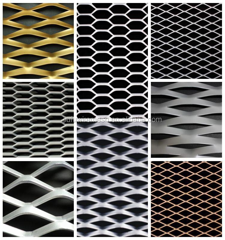 Peque o agujero decorativos de aluminio acero inoxidable - Malla de acero galvanizado ...