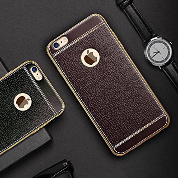 Luxury electroplating ultra thin leather soft tpu back cover <strong>case</strong> for apple iphone 7 plus <strong>case</strong>