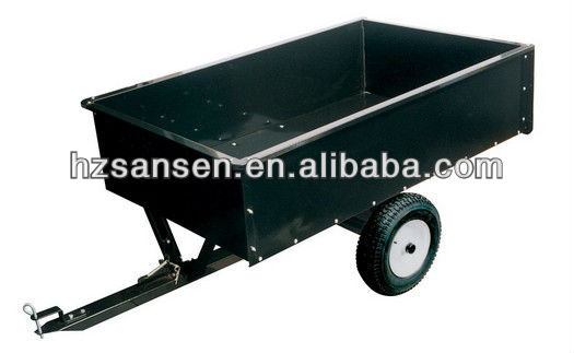 ATV trailed garden trailer; 2wheel atv tow behind trailer for sale
