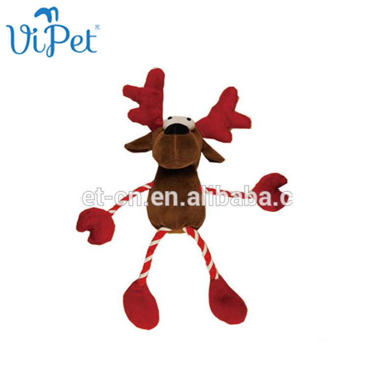 Squeaky Christmas Reindeer Pet Toy para cão