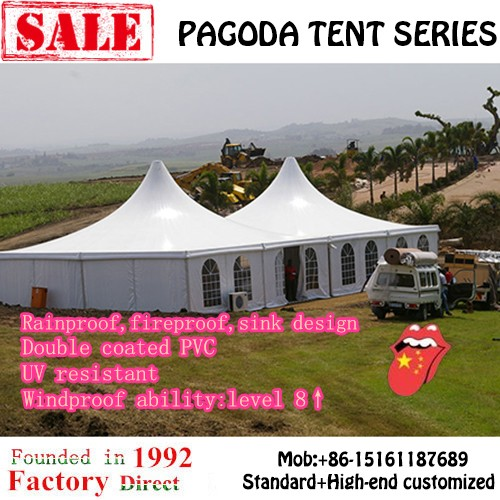flexible 8*8 tent with high peak for reception and party
