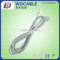 WD high quality 10ft 6p4c rj11 telephone cable