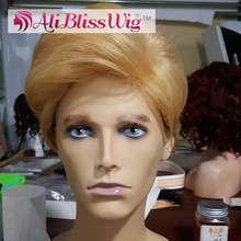 Wholesale Cheap Heat Resistant Fiber Hair Machine Made Short Blonde Halloween President Donald Trump Cosplay Synthetic Wig