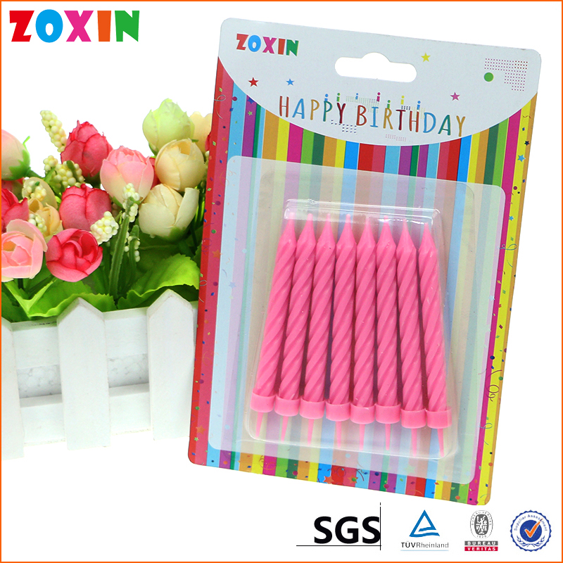 Manufacturer china threaded birthday candle wholesale