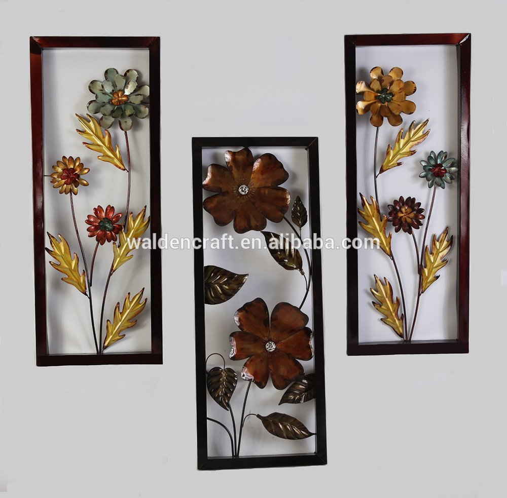Interesting 90 floral metal wall art design inspiration for Metal flower wall art