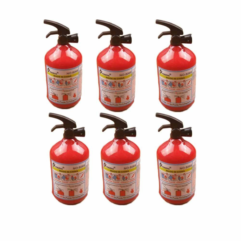 Mini Fire Extinguisher-Shaped Pencil Sharpener 6 Pcs for School and Office