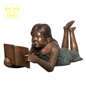 Best Selling Metal sculpture products bronze children reading statue