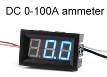 Geree DC Digital Ammeter current meter 0-100A With 100A/75mV shunt