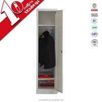 Corner white wardrobe closet with hanging rod 2 shelves