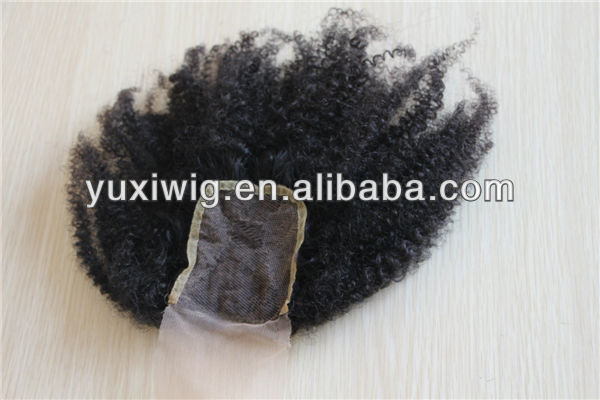 Hot selling virgin mongolian kinky curly lace closure bleached knots