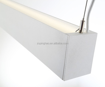Ac110 240v Led Linear Pendant Uplight And Downlight Ce Rohs Office Suspension Lighting