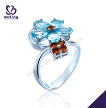 fashion blue zircon flower 952 silver jewelry