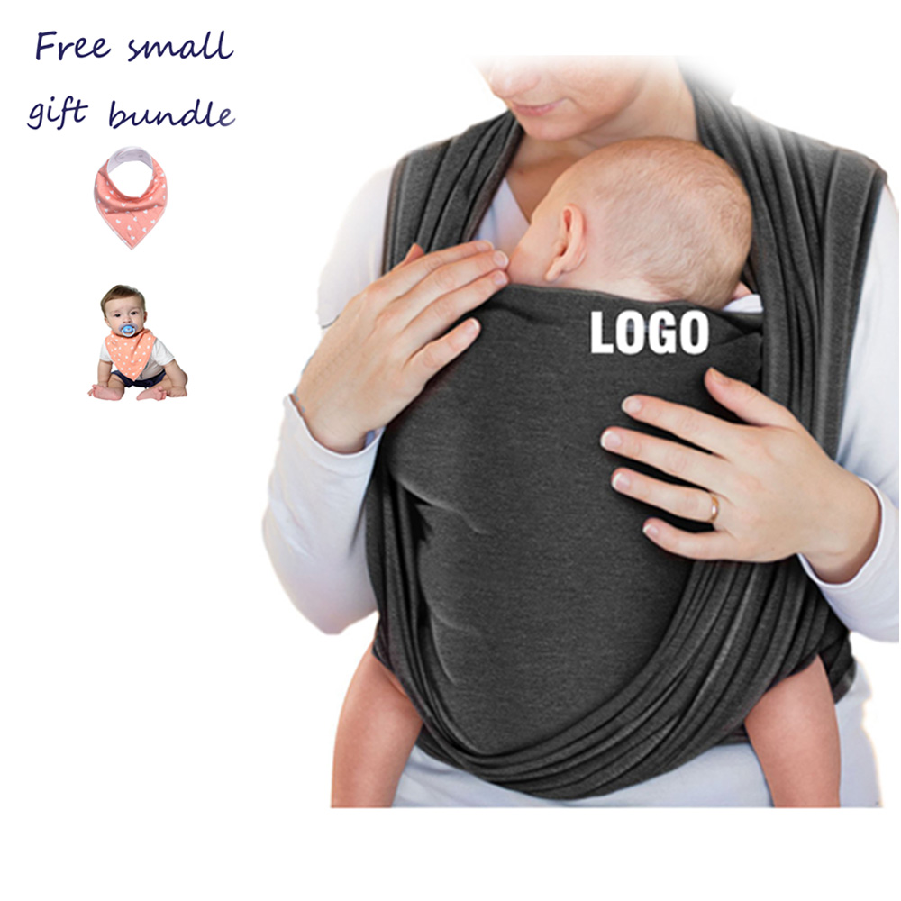 Fashion modeling baby carrier peru with gray fabric design