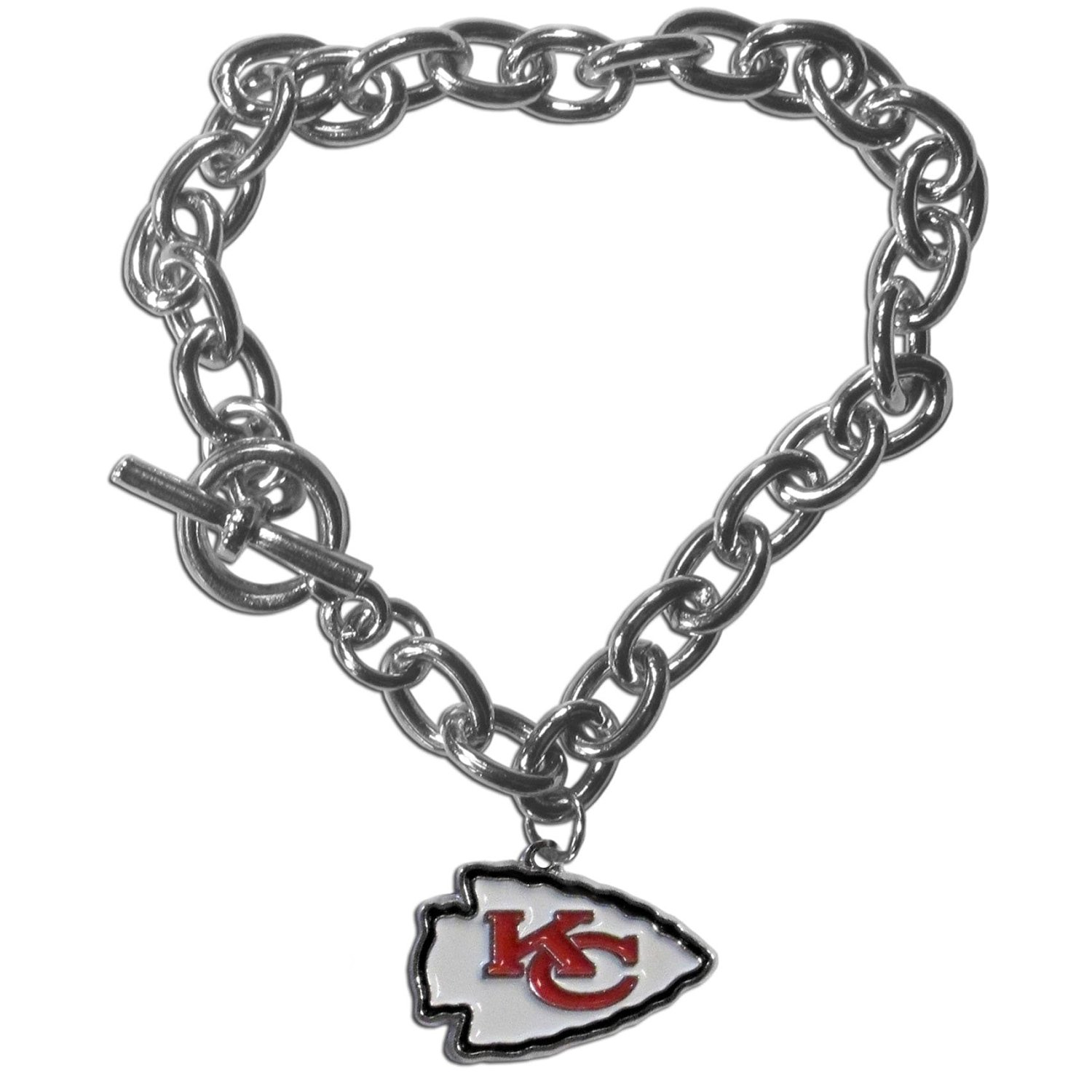 Kansas City Chiefs Charm Chain Bracelet