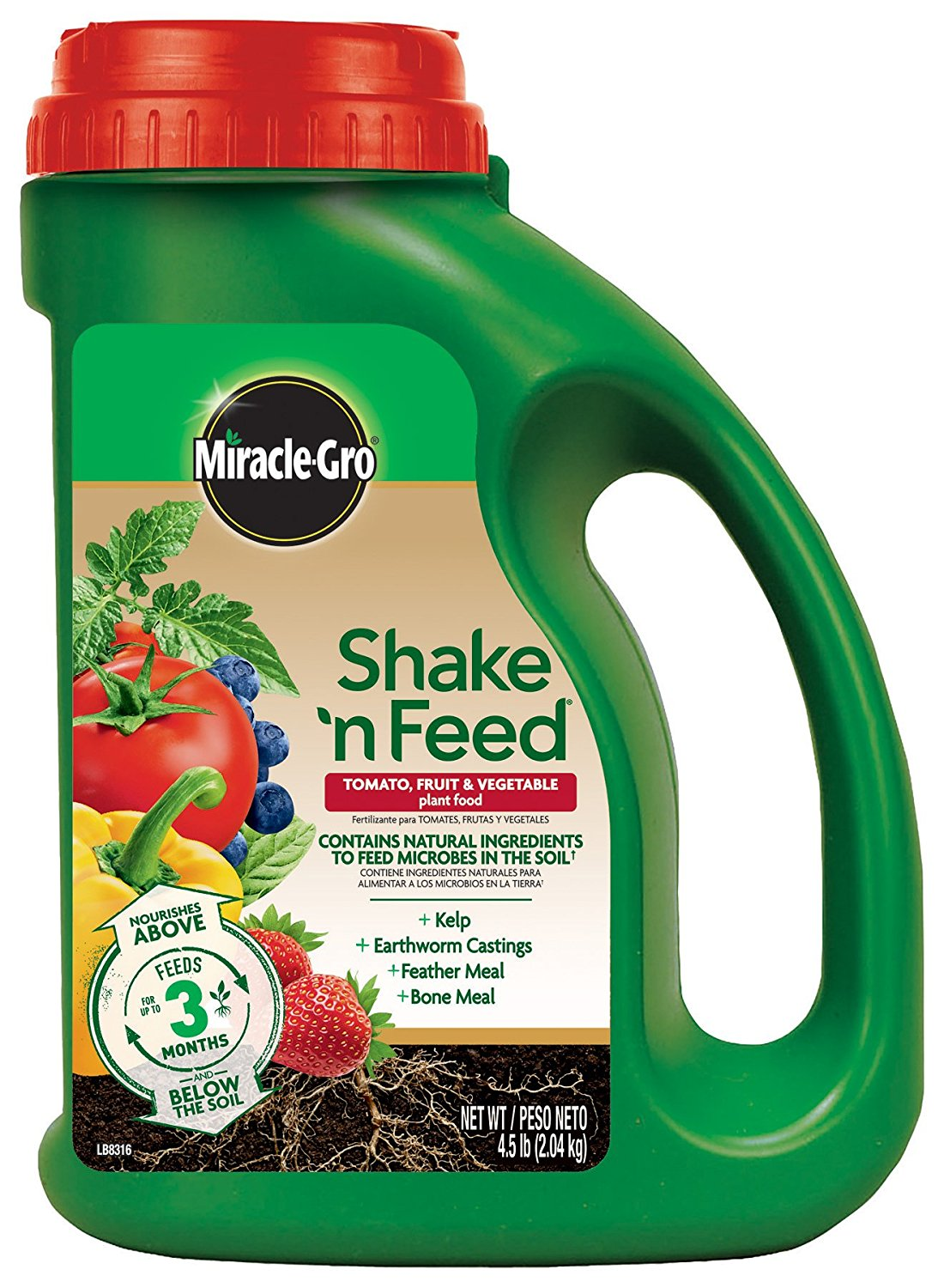 Miracle-Gro 3002610 Shake 'N Feed Tomato, Fruits & Vegetables Continuous Release Plant Food Plus Calcium