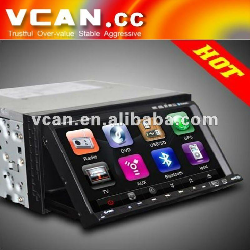 car stereo DVD player touchscreen AM+FM+bluetooth+RDS+IPOD +USB+SD//VCAN0272-5