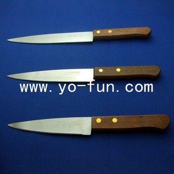 Gjh164 Tramontina Inox Wooden Handle Promotion Knife Set