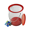 CMYK custom printing metal lid and handle round for bath product bucket clear pvc tin