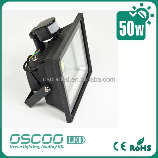 Energy saving high lumen motion sensor outdoor flood light led 50w