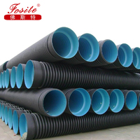 Flexible Plastic Sewage or Drain Pipe HDPE Double-Wall Corrugated Pipe