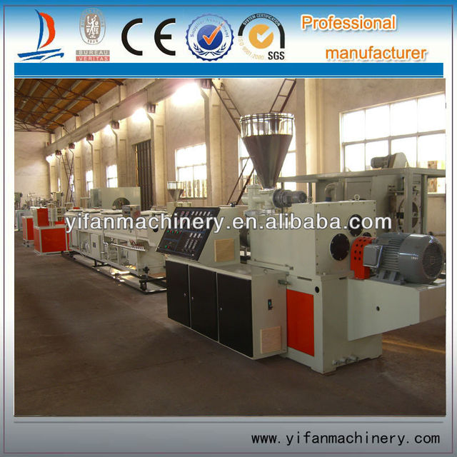 6mmin production capacity single wall plastic corrugated pipe extruder machine for pipe production