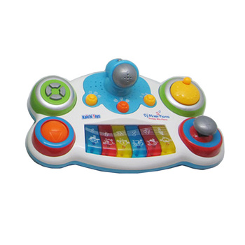 Cartoon Baby Piano Music DJ Mixer Player Toy with Light