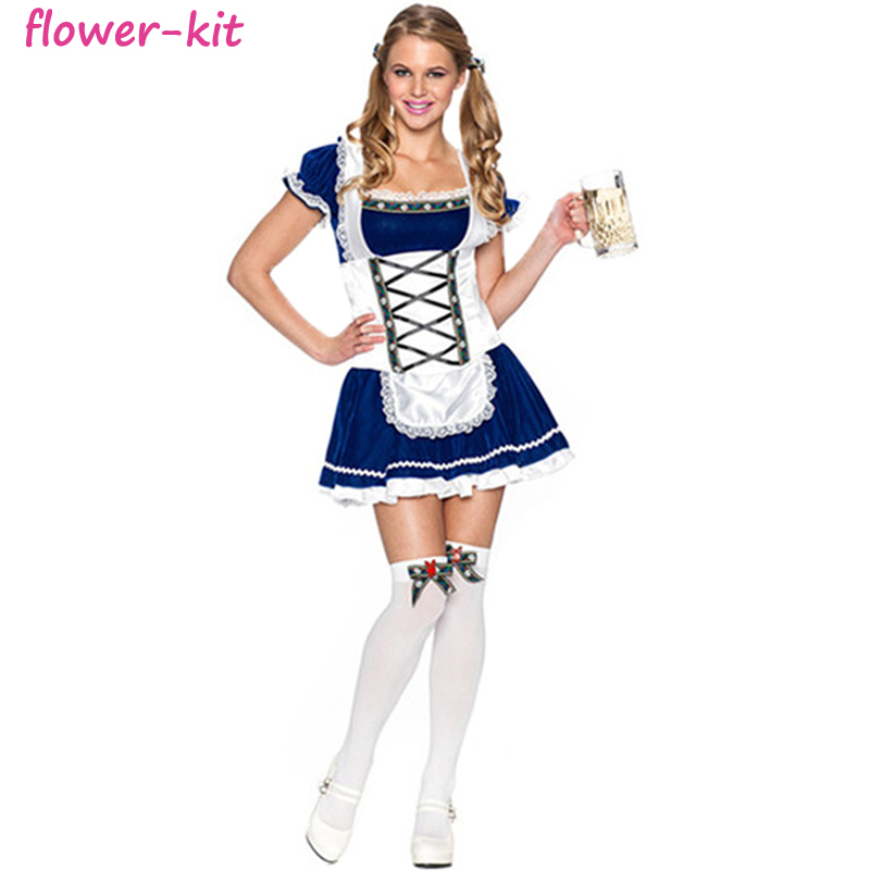 192a8685b68 New Ladies German Beer Girl Cafe Oktoberfest Costume Adult Party Cosplay  Costume Sexy