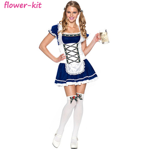 New Ladies German Beer Girl Cafe Oktoberfest Costume Adult Party Cosplay Costume Sexy