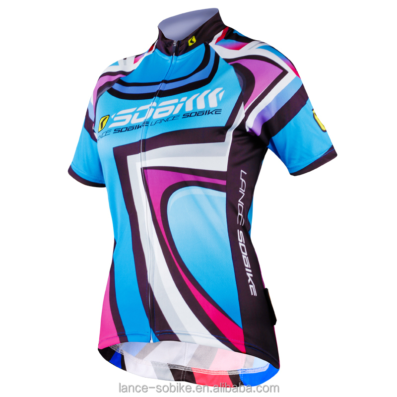 new design sublimation printing cycling wear