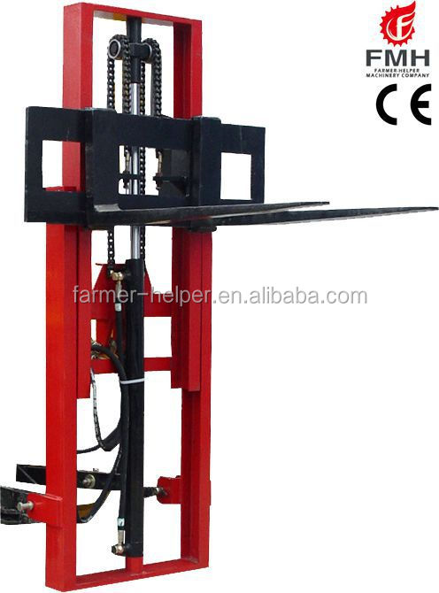 3 Point Hitch Forklift Attachment : Top quality ce small tractor point hitch forklift for