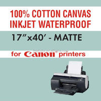 Inkjet Cotton Canvas Photo Paper For Inkjet Printing